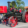NIEUWEHORNE, THE NETHERLANDS - SEP 28: Old steam tractor in a countryside parade during the agricultural festival Flaeijel on September 28, 2013, the Netherlands — Stock Photo