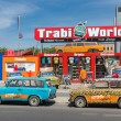BERLIN, GERMANY - JULY 24: Trabant museum and also renting a car for a Trabant safari in the center of Berlin on July 24, 2013 in Berlin, Germa — Stock Photo