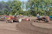 Nieuwehorne, Pays-Bas - 28 septembre : démonstration des agricoles Machines durant le flaeijel festival agricole sur 28 septembre 2013, Pays-Bas — Photo