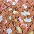 Background of ginger nuts ans sweets. Candy at Dutch Sinterklaas event — Stock Photo