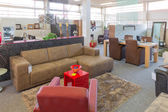 Showroom of modern furniture store — Stock Photo