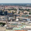 Aerial view of Berlin with Reichstag and Hauptbanhof — Stock Photo