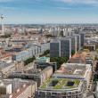 Aerial view of Berlin with Television tower or Fernsehturm — Stock Photo