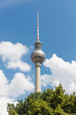 Television tower Berlin at a bright summer day — Stock Photo