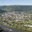Aerial view of Traben-Trarbach at the river Moselle in Germany — Stock Photo