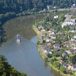 Aerial view of Traben-Trarbach at the river Moselle in Germany — Stock Photo #39017841