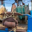 Nets and rigging of an iron fishing trawler — Stock Photo