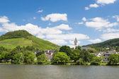 маленький городок буллай вдоль реки мозель в германии — Стоковое фото