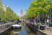 Townscape from the center of Delft, the Netherlands — Stock Photo