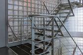 Steel stairway in a modern office building — Photo