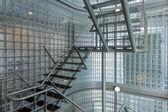 Steel stairway in a modern office building — Stock Photo