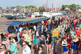 People visiting a fare at a national Dutch holiday — Stock Photo