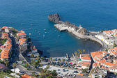 Aerial view harbor of Camara do Lobos at Madeira, Portugal — Stockfoto
