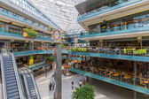 People shopping in a big Dutch indoor shopping mall — Stock Photo