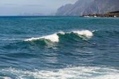 Breaking waves at coast of Madeira Island — Foto de Stock