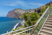 Beautiful coast of Madeira Island with hiking trai — Zdjęcie stockowe