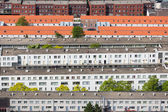 Aerial view residential area The Hague, The Netherlands — Stock Photo