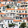 Houses against a hill at Camara de Lobos near Funchal, Madeira Island — Stock Photo #51477939