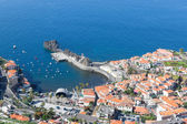 Aerial view harbor of Camara do Lobos at Madeira, Portugal — Stock Photo