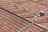 Aerial view of red tile roofs — Stock Photo