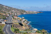 Island Madeira with Highway along Santa Cruz and a view at the airport — Stock Photo