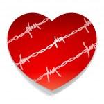 Barbwire Love Heart — Stock Vector #11986154