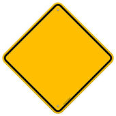 Isolated Blank Yellow Sign — Stock Vector