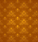 Gold Damask Pattern — Stock Vector