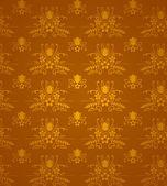 Gold Damask Pattern — Stock Vector