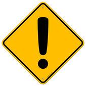 Signo de exclamación amarillo — Vector de stock