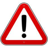 Rote ausrufezeichen zeichen — Stockvektor
