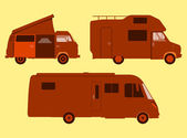 Motorhome Silhouette — Stock Vector