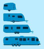 Silueta de caravana — Vector de stock
