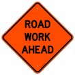 Road Work Ahead Sign — Imagen vectorial