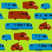 Seamless Caravan Pattern — Stock Vector