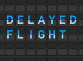 Delayed Flight Flip Board — Vecteur