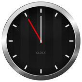 Horloge noire — Vecteur