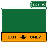 Exit Only Sign — Stock Vector