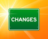 Changes Green Sign — Stock Vector