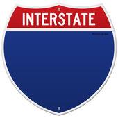 Interstate zeichen isoliert — Stockvektor