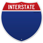 Isolated Interstate Sign — Stock vektor