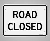 道路封闭的标志 — 图库矢量图片