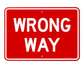 Wrong Way Sign — Vector de stock