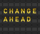 Change Ahead Flip Board — Stock Vector