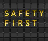 Sicurezza prima tavola flip — Vettoriale Stock