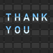 Thank You Flip Board — Stock Vector