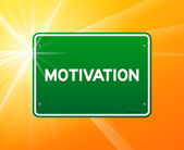 Motivation Green Sign — Stock Vector