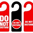 Do Not Disturb Sign - Stockvectorbeeld