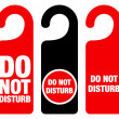 Do Not Disturb Sign - Stock Vector
