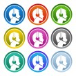Contact Icon Set — Stock Vector
